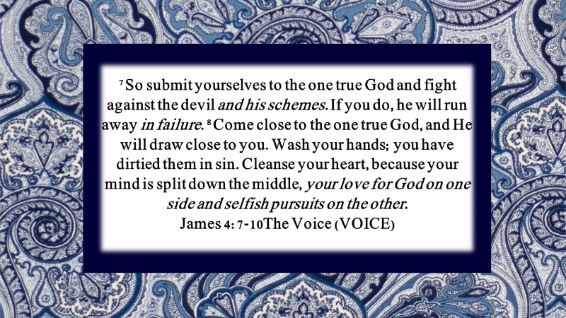 Submit yourself to the LORD